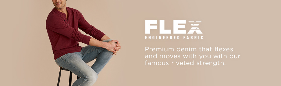 Premium denim that flexes and moves with you