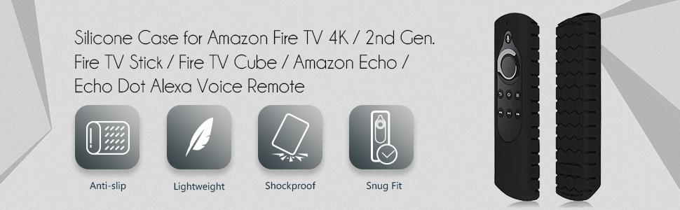 All-New Amazon Fire TV 4K 2nd Gen Fire TV Stick 2015 Fire TV Cube Alexa Voice Remote Case Cover