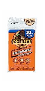 gorilla hot melt glue gun sticks