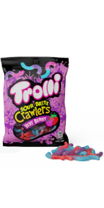 Trolli, gummy worms, sour gummies, sour gummie candies