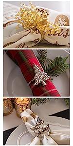 christmas dinner napkins; christmas table; christmas dinner; christmas dinner sets; white christmas