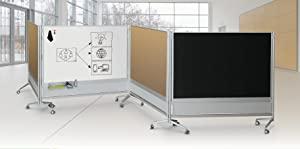 Mobile whiteboard, divider whiteboard, divider, mobile divider, whiteboard,