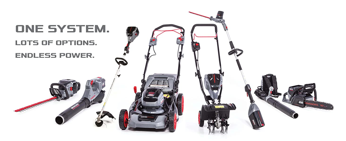 powerworks cordless electric battery self propelled lawn mower