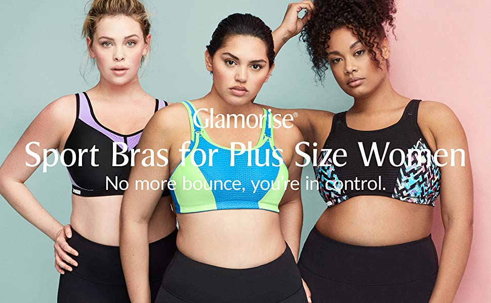 glamorise sport bras for plus size women elite performance bounce control lady hiit workout sweat