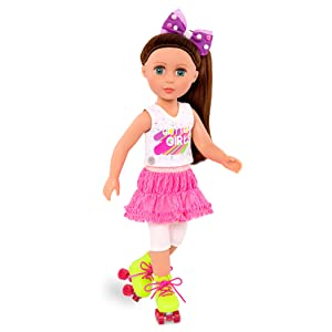 glitter girls battat 14-inch dolls roller skating deluxe outfit wellie wishers sandals 6 year old