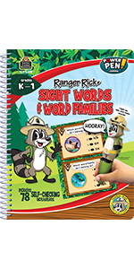 Ranger Rick Power Pen Learning Book: Sight Words/Word Families