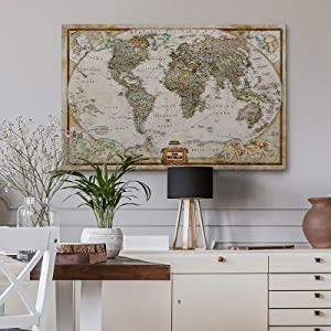 watercolor travel map