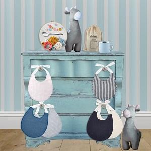 large;cotton;shower gift;gifts;for boys;girls;keepsake;pink;blue;white;denim;stripes