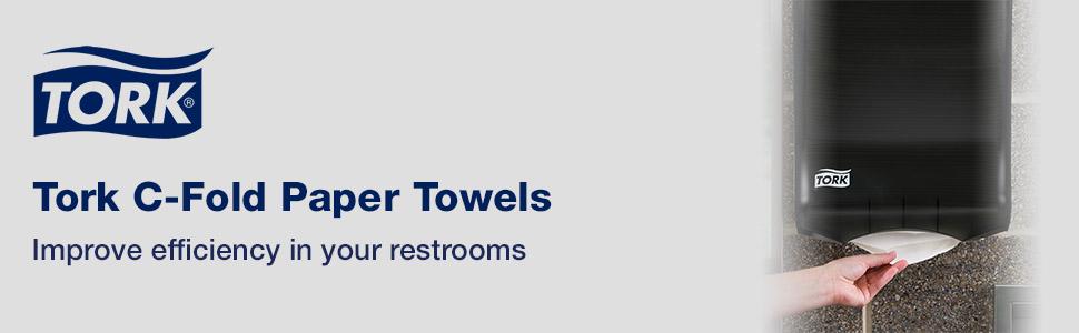 Tork C-Fold Paper Towels improve efficiency in your restrooms