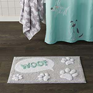 bathmat, bath mat, dog bath mat, dog bathmat, scribble pup, scribble pup bathmat
