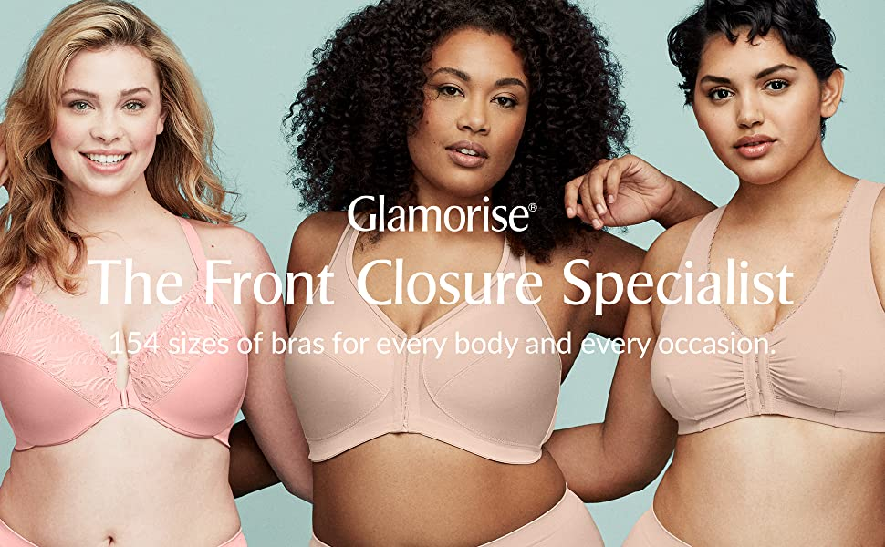 front close bras plus size every body occasion favorite hook eye slide and snap recovery bra comfort