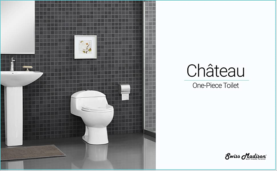 chateau, one piece toilet