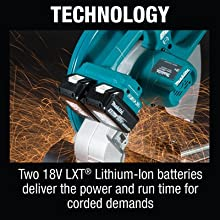 tehcnology two 18v lxt batteries lithium ion deliver power runtime corded demands
