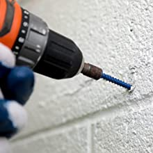 Wej-It Concrete Screw, phillips or hex head, e-z drill, salt and water resistant, strong, durable