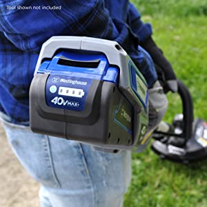 westinghouse lithium ion cordless string trimmer lawn garden battery tool adjustable cut path 40v