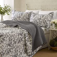 black and white bedding;laura ashley;queen quilt;cotton quilt;king quilt;queen bedding;king bedding
