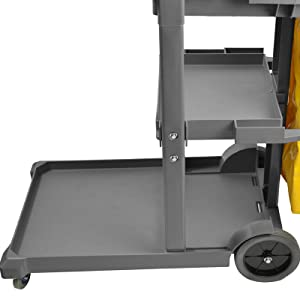 janitorial cart with wheels