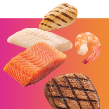 Real meat, poultry and fish