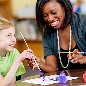 Art teacher and one student