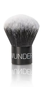 kabuki, brush, makeup brush, blush brush, powder brush, bronzer brush, wunder2