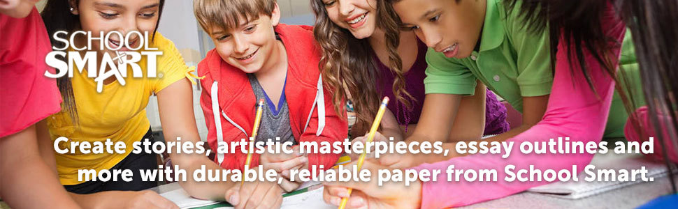 Create stories, artistic masterpieces, essay outlines and more with paper from School Smart.