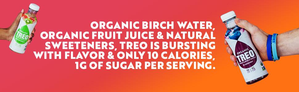 organic birch water and fruit juice