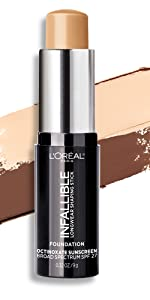 loreal makeup, foundation stick, shaping stick, contouring, loreal infallible