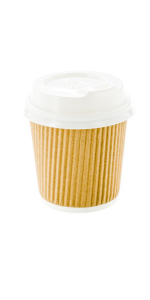 These espresso disposable cups are made from kraft paper and keep espressos and cortados warm.