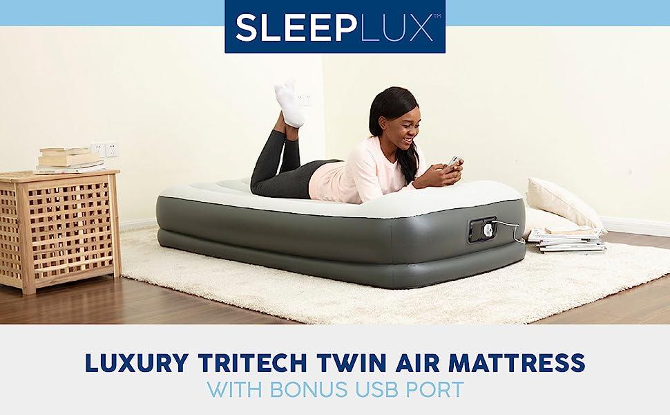 Bestway Sleeplux Luxury Tritech Twin Airbed Air Mattress
