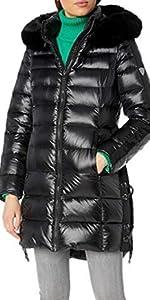 Long Winter Coat with Fox Fur Trimmed Hood