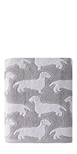 dog bath towel, bath towel with dogs, bath towel, skl home, skl home bath towel, bath towels