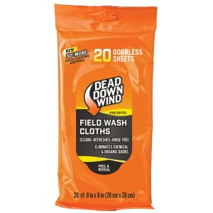 Field Wash Cloths Dead Down Wind 1352 Scent Eliminator Scent Control Hunting