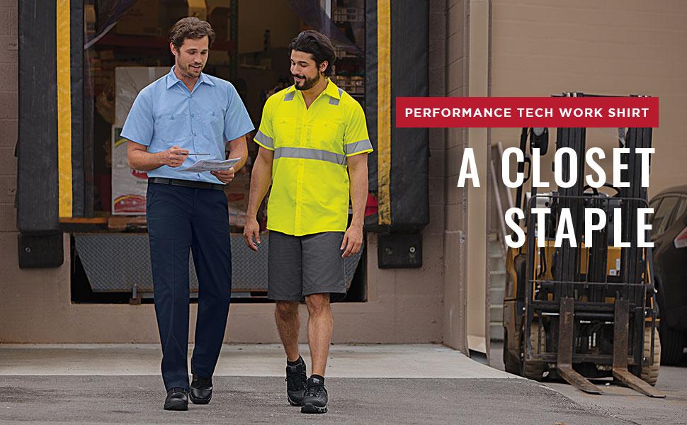 performance tech work shirt, red kap performance tech work shirt, red kap performance shirt