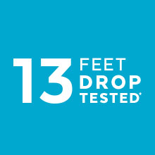 13-foot drop-protection with IMPACTIUM cushioning