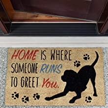 carpet slip shoe runner cleaner black non decor entry bathroom water area shoes small pet patio x