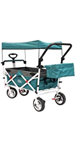 Creative Outdoor Folding Push Pull Wagon