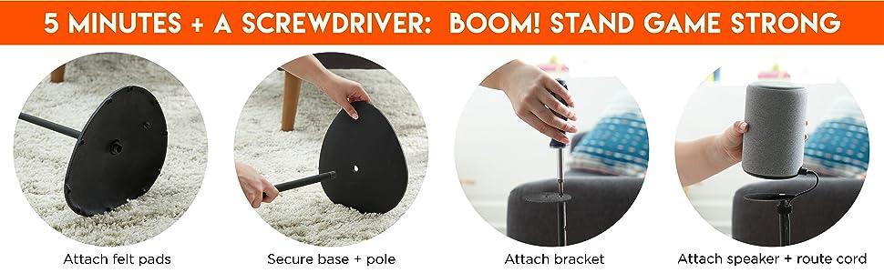 accessories plus 2nd gen white black stand floor carpet hardwood best plus speaker 2 generation