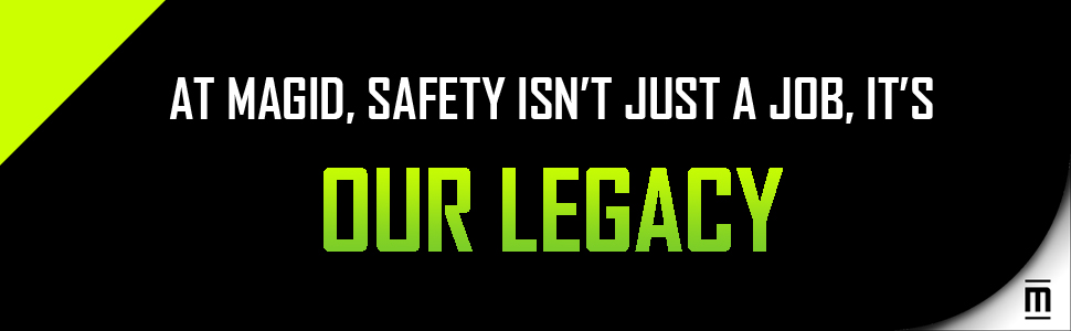 Magid, Safety, Job, Legacy, Green, Black, White, Footer Image