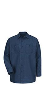 long sleeve work shirt, industrial long sleeve work shirt, red kap long sleeve shirt