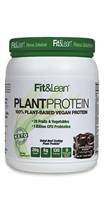 Fit & Lean keto shake vegan meal replacement powder amino acid mct oil probiotic gut health digest