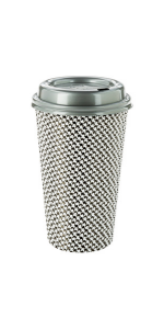 These large paper coffee cups have a houndstooth pattern and are available in other cute designs.