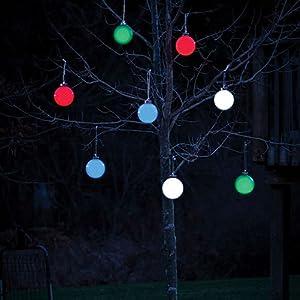 christmas, decoration, ornament, pulsing globe, lights, outdoor