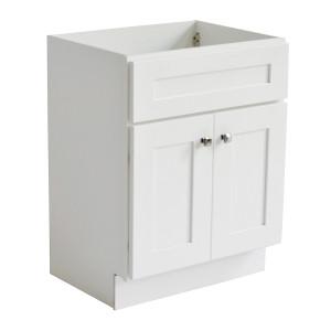 Brookings Ready to Assemble 30 in. W x 21 in. D 2-Door Shaker Style Bath Vanity Cabinet White
