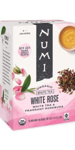 numi organic white rose tea bags