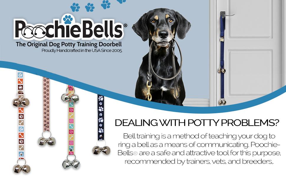 dog training, potty training, bell training, poochiebells