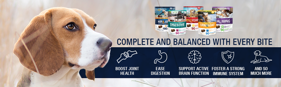 Complete and Balanced - Joint Health, Ease Digestion, Support Active Brain Function, Immune System