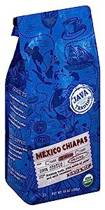 mexico chiapas organic coffee java trading medium roast ground coffee organic USDA seed chocolate
