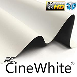 cinewhite; designer cut; tensioned screen material; fixed frame projector screen; blackout cloth