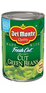 green beans, del monte, cut green beans