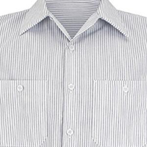 striped work shirt, work shirt with stripes, striped red kap shirt